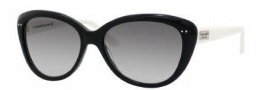 Kate Spade Angelique/S Sunglasses Sunglasses - 0FU8 Black Cream (Y7 Gray Gradient Lens)