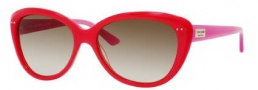 Kate Spade Angelique/S Sunglasses Sunglasses - 0JUY Pink Orange (RY Brown Gradient Lens)