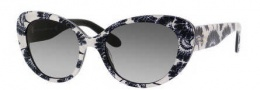 Kate Spade Franca 2/S Sunglasses Sunglasses - 0JEE Black Cream Floral (Y7 Gray Gradient Lens)