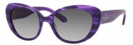Kate Spade Franca 2/S Sunglasses Sunglasses - 0Y06 Purple Horn (Y7 Gray Gradient Lens)