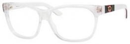 Gucci 3543 Eyeglasses Eyeglasses - 05L0 Crystal / White Red Green