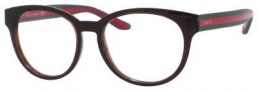 Gucci 3547 Eyeglasses Eyeglasses - 05D6 Brown / Green Red Green