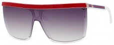 Gucci 3554/S Sunglasses Sunglasses - 0KS5 Crystal / Red (BD Dark Gray Gradient Lens)