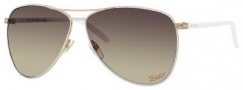 Gucci 4209/S Sunglasses Sunglasses - 0WQC Mystique White (ED Brown Gradient Lens)