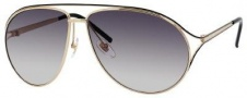 Gucci 4216/S Sunglasses Sunglasses - 0KSY Gold / Shiny Black (EU Gray Gradient Lens)