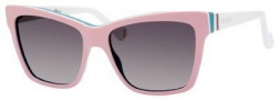 Gucci 5006/C/S Sunglasses Sunglasses - 0KPX Pink White Aqua (DX Dark Gray Shaded Lens)