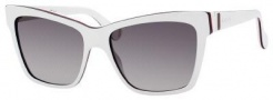 Gucci 5006/C/S Sunglasses Sunglasses - 0EHU White Red Gray (DX Dark Gray Shaded Lens)