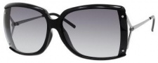 Gucci 3549/F/S Sunglasses Sunglasses - 0CVS Shiny Black (JJ Gray Gradient Lens)