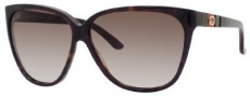 Gucci 3539/S Sunglasses Sunglasses - 0GAZ Dark Havana (HA Brown Gradient Lens)