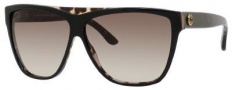 Gucci 3540/S Sunglasses Sunglasses - 0AZM Black Havana (HA Brown Gradient Lens)