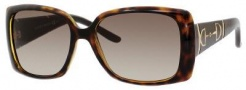 Gucci 3537/S Sunglasses Sunglasses - 05E7 Havana (HA Brown Gradient Lens)