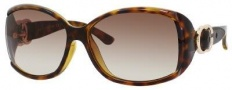 Gucci 3521/F/S Sunglasses Sunglasses - 0791 Havana (JD Brown Gradient Lens)