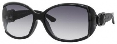 Gucci 3521/F/S Sunglasses Sunglasses - 0D28 Shiny Black (JJ Gray Gradient Lens)