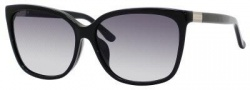 Gucci 3522/F/S Sunglasses Sunglasses - 0807 Black (JJ Gray Gradient Lens)