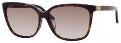 Gucci 3522/F/S Sunglasses Sunglasses - 0086 Dark Havana (CC Brown Gradient Lens)