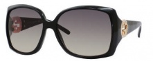 Gucci 3503/S Sunglasses Sunglasses - 0D28 Shiny Black (RA Gray Green Gradient Lens)