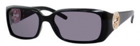 Gucci 3504/S Sunglasses Sunglasses - 0D28 Shiny Black (BN Dark Gray Lens)