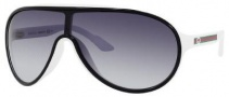 Gucci 3514/S Sunglasses Sunglasses - 0WRP Black White (JJ Gray Gradient Lens)