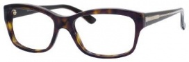 Gucci 3205 Eyeglasses Eyeglasses - 00O2 Dark Havana Olive 