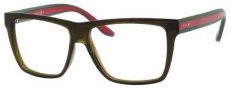 Gucci 1008 Eyeglasses Eyeglasses - 053U Brown / Green Red