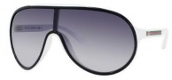 Gucci 1004/S Sunglasses Sunglasses - 0WRP Black White (JJ Gray Gradient Lens)