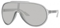 Gucci 1004/S Sunglasses Sunglasses - 0WRK Gray Semi Matte (L5 Mirror Silver Lens)