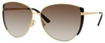Gucci 2908/S Sunglasses Sunglasses - 0001 Yellow Gold (CC Brown Gradient Lens)