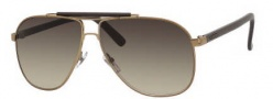 Gucci 2215/S Sunglasses Sunglasses - 0LL5 Antique Gold (DB Brown Gray Gradient Lens)