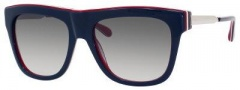 Marc by Marc Jacobs MMJ 293/S Sunglasses Sunglasses - 07V5 Blue Red White Red (JJ Gray Gradient Lens)