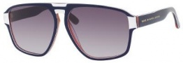 Marc by Marc Jacobs MMJ 294/S Sunglasses Sunglasses - 0CKX Blue White Gold (EU Gray Gradient Lens)