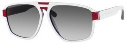 Marc by Marc Jacobs MMJ 294/S Sunglasses Sunglasses - 07V7 White Red Blue (JJ Gray Gradient Lens)