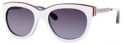 Marc by Marc Jacobs MMJ 305/S Sunglasses - 083V White Red Blue (HD Gray Gradient Lens)