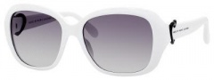 Marc by Marc Jacobs MMJ 306/S Sunglasses Sunglasses - 0VK6 White (EU Gray Gradient Lens)