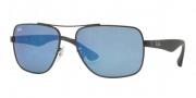Ray-Ban RB3483 Sunglasses Sunglasses - 006/68 Black / Crystal Blue