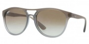 Ray-Ban RB4170 Sunglasses Brad Sunglasses - 854/7Z Brown Grad. on Clear / Grey Green Gradient