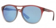 Ray-Ban RB4170 Sunglasses Brad Sunglasses - 856/55 SF Roso SU Grigio Trasp. / Blue Mirror