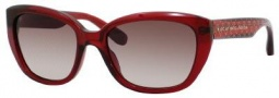 Marc by Marc Jacobs MMJ 274/S Sunglasses Sunglasses - 023S Transparent Burgundy Heart (K8 Brown Gradient Lens)