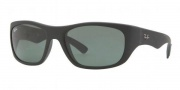 Ray-Ban RB4177 Sunglasses Sunglasses - 622 Black Rubber / Crystal Green
