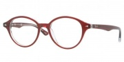 Ray Ban RX5257 Eyeglasses Eyeglasses - 5112 Top Bordeaux on Transparent