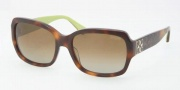 Coach HC8001 Sunglasses Emma Sunglasses - 5052T5 Tortoise / Brown Polarized Gradient