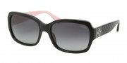 Coach HC8001 Sunglasses Emma Sunglasses - 5053T3 Black / Gray Polarized Gradient