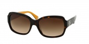 Coach HC8001 Sunglasses Emma Sunglasses - 505513 Dark Tortoise / Brown Gradient