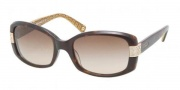 Coach HC8003A Sunglasses Lillian  Sunglasses - 503313 Dark Tortoise / Brown Gradient