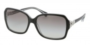 Coach HC8009 Sunglasses Frances Sunglasses - 504811 Black Crystal / Gray Gradient