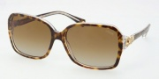 Coach HC8009 Sunglasses Frances Sunglasses - 5049T5 Tortoise Crystal / Polarized Brown Bradient
