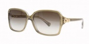 Coach HC8009 Sunglasses Frances Sunglasses - 50508E Olive Crystal / Green Gradient