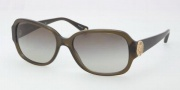 Coach HC8015 Sunglasses Allie Sunglasses - 50308E Dark Olive / Green Gradient