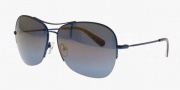 Tory Burch TY6020 Sunglasses Sunglasses - 122/33 Navy / Blue Mirror Gold