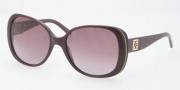 Tory Burch TY7036 Sunglasses Sunglasses - 10428H Plum Green Navy / Plum Gradient