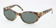 Tory Burch TY7038 Sunglasses Sunglasses - 504/71 Spotty Tortoise / Green Solid